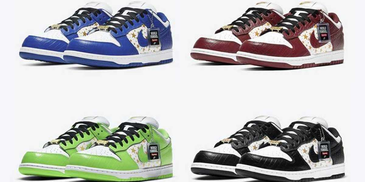 Four Supreme x Nike SB Dunks are available now, and the shoes are shipping fast