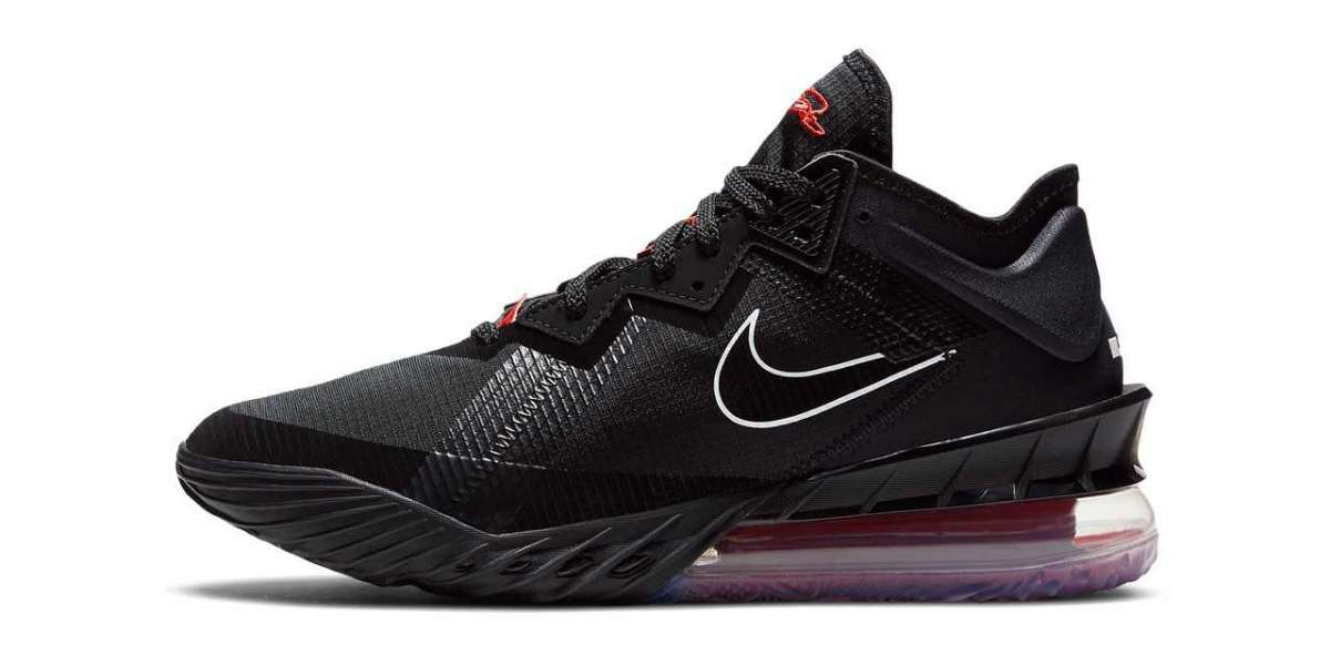 "Summer Color Nike LeBron 18 ""Black/University Red"" CV7562-001 Shoes On Sale"